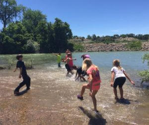 NRCP camp kids in river